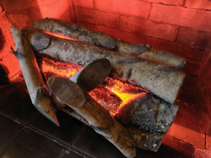 Vintage, mid-century faux fireplace insert