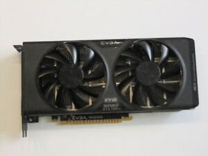 Carte video de Gamer EVGA GEFORCE GTX750ti FTW 2Gig DDR5
