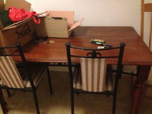 Free Wood table and 4 chairs
