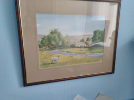 Original Art , watercolour Yorkshire scene