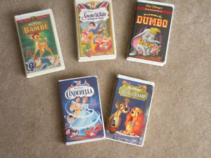Assorted Classic Disney VHS Animated Movies For Sale
