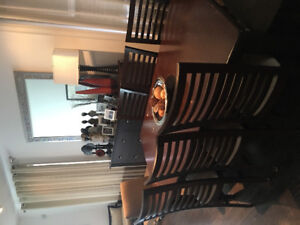 Dining Table, chairs and side board