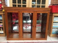 Stunning Illuminated Solid Pine Display Cabinet