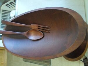 Solid Teak Salad Set for 4