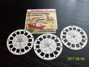 VIEW MASTER STEREO PICTURES, 1980, 3 roulettes LES PIERRAFEU