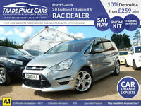 GUARANTEED CAR FINANCE Ford S-Max 2.0 EcoBoost Titanium X Sport Powershift