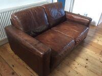 Contempo Italian leather sofa and chair