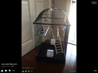 Large beautiful black bird cage  new