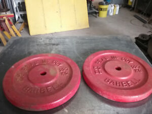 50lb barbell weights matched pair