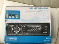 New (un-used) in-car MP3 USB/SD Head unit