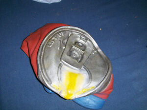 COMICAL BEER CAN HAT-NOVELTY-RUBBER/PLASTIC-COLLECTIBLE!