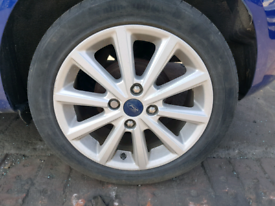 Set of ford fiesta mk7 alloy wheels rim with tyre