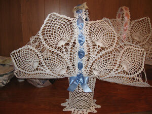 CROCHETED BASKETS - FOR YOUR FAVORITE ARRANGEMENTS-$30.00 EACH Edmonton Edmonton Area image 3