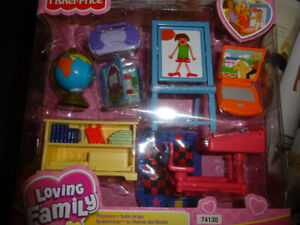 Fisher-Price Loving Family Collection dolls/furniture sets