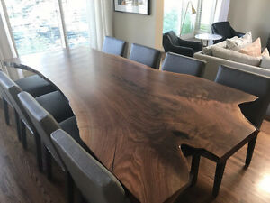 LIVE EDGE TABLE DINING ROOM TABLE KITCHEN TABLE WOOD SLAB TABLES