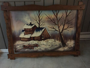 Cabin in woods picture