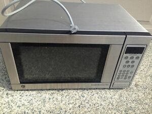 Stainless GE microwave
