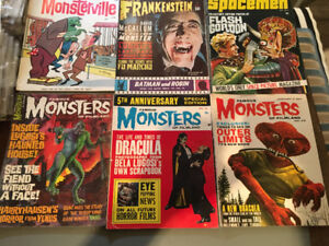 Lot of original Monster and Sci Fi magazines from the 1960s