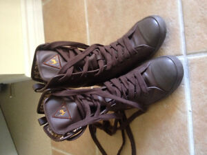 Le-Coq-Sportif Shoes Boots Brown Leather---Youth Size 5 US