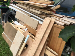 Lumber for sale, sink, underlay