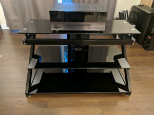 TV Stand (Metal and Glass)