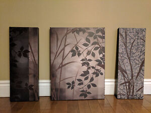 Home Decor - 3 Piece with Nature/Forest/Grassland Theme
