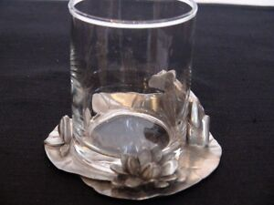 "Seagull Pewter  ""Fine Pewter Candle Holder With Frog"" London Ontario image 3"