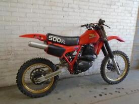 1982 HONDA XR500 FOURSTROKE RED ROCKET MX BIKE 500CC FEATURED DIRT BIKE MAGAZINE