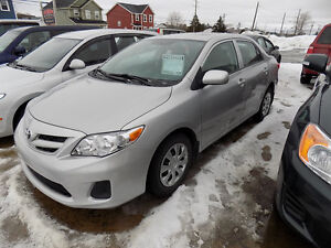 2013 Toyota Corolla Sedan $ 11,900.00, $ 9,100.00 Call 727-5344