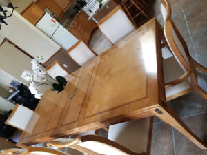 Large solid wood dining set $1900 OBO