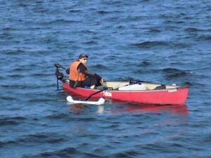 14 foot canoe with trolling motor