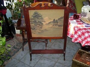 Antique double sided Fireplace  Screen  Heat Block