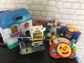 Bundle of kids toys doll house vtech weeble