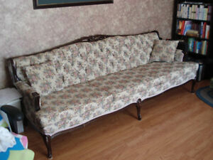 Antique french provincial couch and chair
