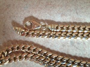14K Solid Gold Mens Chain