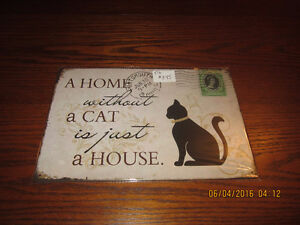 Home without a Cat Tin Sign