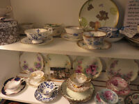 SALE fine bone china cups & saucers