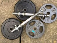 4 x 5kg Weights and bars