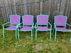 Patio chairs - super trendy colours
