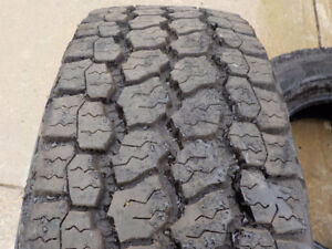 2017 Goodyear Wrangler tires LT275/70R/18 A/T Adventure, E rated