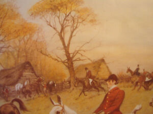 """Fox Hunt Full Cry Through The Homestead,16""""X20"""" George Wright Peterborough Peterborough Area image 8"""