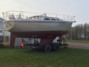 Catalina 30 Tall Rig Bow Sprit