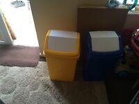 Swing bins