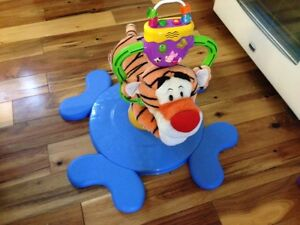 bouncing tiger sit on toy