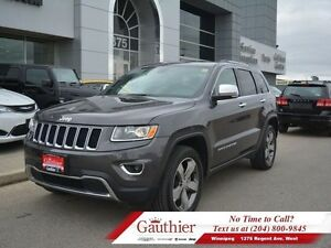 2016 Jeep Grand Cherokee Limited 4X4 w/Sunroof  Leather *LOCAL*