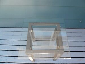 Glass Top Coffee Table and 2 Glass Top End Tables for Sale