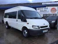 2005 low mileage Ford TRANSIT MINIBUS 2.4 tddi with only44000 with vosa printout