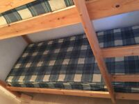 Bunk bed pine 6ft length x 4.5 in high