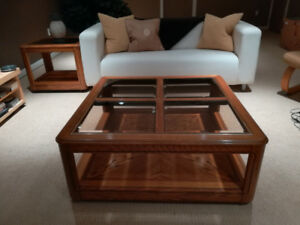 Set Of One Coffee Table and One End Table Solid Wood