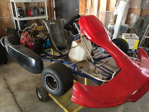 2 Racing Go Karts - 4 stroke - Great condition with stands
